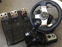 Logitech g27 force feedback gaming wheel