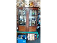 Vintage China Display Cabinet With Key