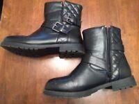 Ladies black ankle boots Size 5 UK