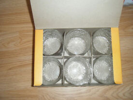 VINTAGE 1970'S RAVENHEAD SIESTA GLASSES SIZE 14CL - SET OF 6 - BOXED RETRO