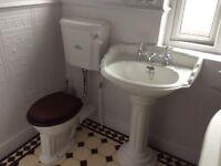 SANITAN washhand basin and toilet