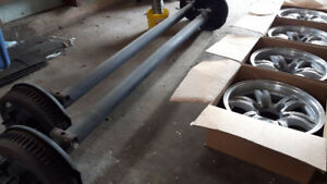 double axle w/brakes and rims