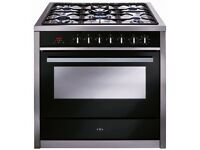 Range Cooker - Brand New, still in original packaging. £400 - CDA Stainless Steel, 5 hob gas cooker.
