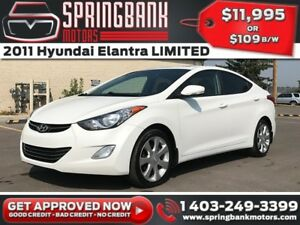 2011 Hyundai Elantra LIMITED w/Leather, Sunroof, Navi $109B/W IN
