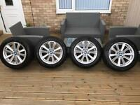 Bmw alloy wheels 17 inch 5 series 3 series etc brand new tyres