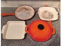 Cast iron 4 pc set / £35 total / orange