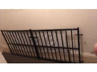 wrought iron extending gates