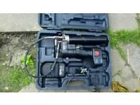 Battery grease gun