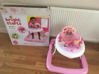 Bright starts baby walker pink