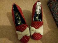 Size 6 Irregular Choice Bowtiful red