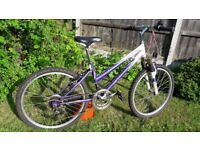 """Sabre Orchid Series 2 Girl's Bike, 24"""" wheels, well used in need of some tlc"""