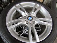 """GENUINE BMW M SPORT 18""""ALLOYS AND TYRES"""