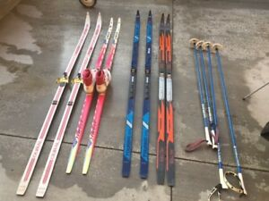 Cross Couontry Skis and Poles