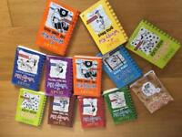 12 Diary of a Wimpy Kid books for sale