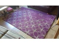 Purple/natural rug