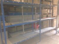 QBS industrial longspan shelving 2.4M high ( pallet racking , storage )