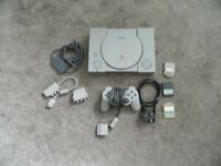 Playstation 1 console.