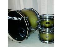 Ludwig Epic Euro Olive Burst 6pc shell pack