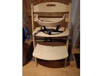 Wooden adjustable highchair
