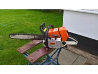 "Stihl 76.5cc / 21"" Bar Chainsaw Great condition"