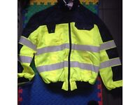 HI VIS FUR LINED STAIN AND RIP RESISTANT 32-34 INCH CHEST BRAND NEW