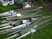 20 timber posts with galvanised metal spikes
