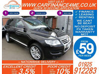 2010 VW TOUAREG 3.0 TDI V6 ALTITUDE GOOD / BAD CREDIT CAR FINANCE FROM 59 P/WK