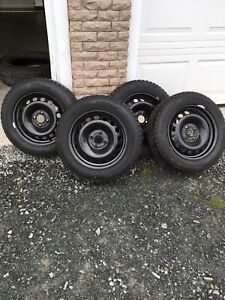 4 hankook winter tires on rims