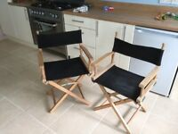 Pair of director chairs, excellent quality