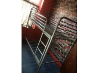 Metal silver bunk bed frame