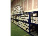 HI-LO INDUSTRIAL LONGSPAN SHELVING 2.4 METERS HIGH AS NEW ( PALLET RACKING , STORAGE)