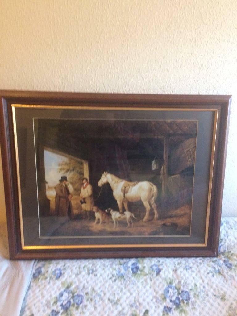 Picturein Gateshead, Tyne and WearGumtree - Framed picture of horse in stables , collection only after 5pm contact Chris 07787864267