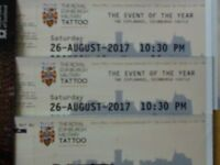 EDINBURGH MILITARY TATTOO SAT. 26th AUGUST 10.30PM 4 TICKETS SECTION 12 LATE AND FINAL PERFORMANCE