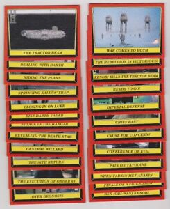 2016 TOPPS STAR WARS ROGUE ONE MISSION BRIEFING CARDS X30 MINT