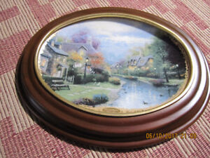 "Thomas Kinkade Collector's Plate ""Lamplight Brooke"""