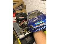 Battery radio control car