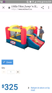 Little Tikes bounce and slide bouncer.
