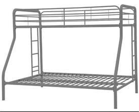Triple metal bunk bed