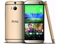 HTC One M8 White, Silver, Gold (Unlocked) Smartphone in good condition