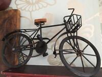 Antique vintage cast iron bike decorative piece