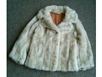 Fake fur jacket size 12