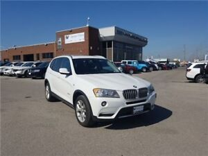 2013 BMW X3 Xdrive28i Panoramic Roof, Only 60, 000 KMS !!