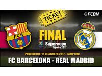 4 tikets for supercopa spain Barca vs Real Madrid