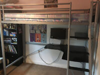 HIGH SLEEPER CABIN BED WITH DESK - IDEAL FOR GROWING CHILD -BARGAIN!