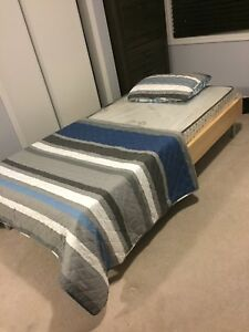 Twin frame with brand new mattress