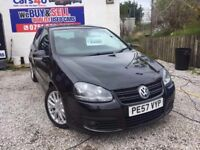 07 VOLKSWAGEN GOLF GT TDI 2.0 DIESEL IN BLACK *PX WELCOME* MOT TILL NOVEMBER 2017 £1995