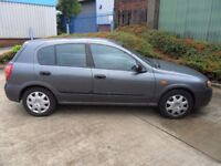 2003 NISSAN ALMERA PETROL 5 DOORS MANUAL GREY