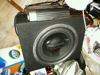 Pioneer sub woofer and amp