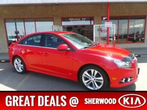 2013 Chevrolet Cruze RS Accident Free,  Leather,  Sunroof,  A/C,