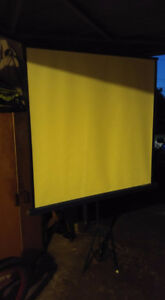 Vintage Da-Lite Projection Screen With Stand, Original Box F/S